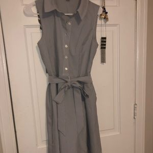 Jones New York pinstripe dress with tie bow